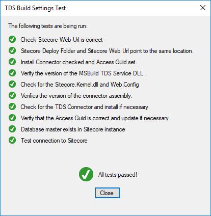 tds-test-connection-to-sitecore-success